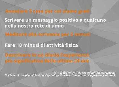 benessere organizzativo 5 atteggiamenti